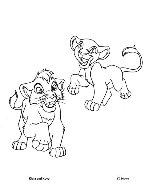 lion king kiara coloring pages kiara s games