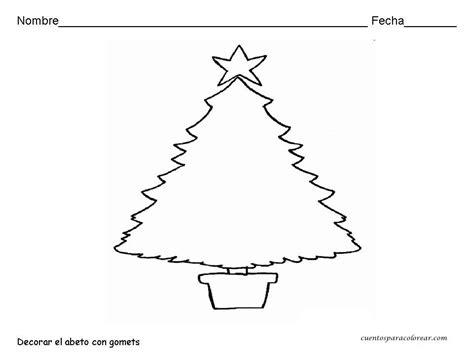 dibujos de arbol de navidad para colorear e imprimir