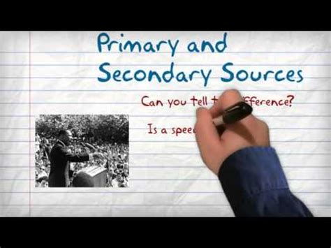 Mba Slang by Primary Vs Secondary Sources