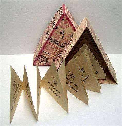 Origami Box Book - origami triangle book boxes handmade