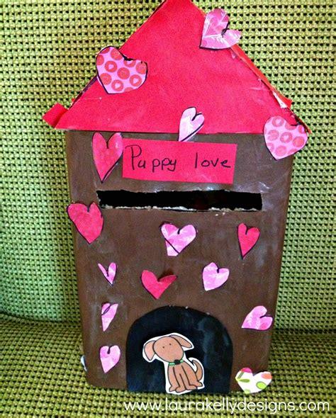 dog house valentine box puppy love valentine s dog house box