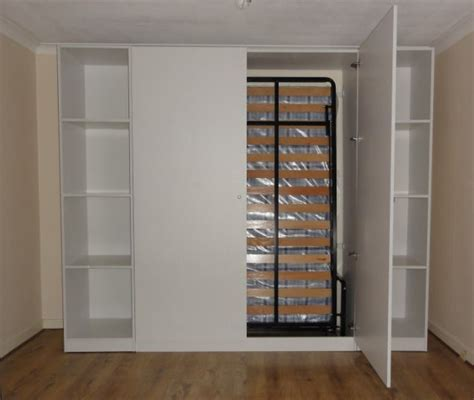 Wall Bed Wardrobe by Wall Bed Murphy Bed Folding Bed Wallbed Bed Guest Bed In Wardrobe Ebay