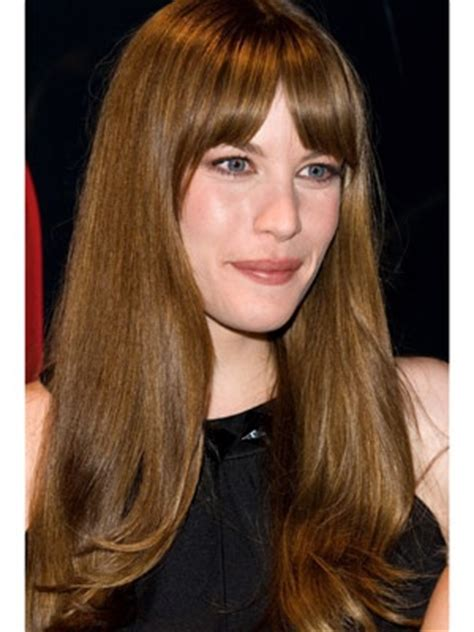 mkes you look younger blunt bangs or feathered banks get bangs that make you look younger nice liv tyler and