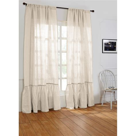 Ivory Linen Curtains Caprice Linen Curtain Ivory