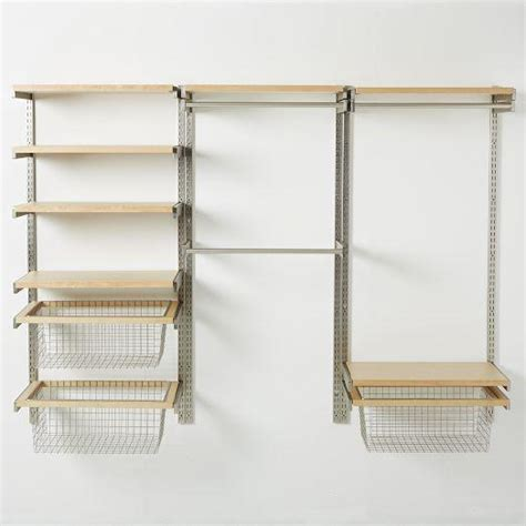 Make Your Own Closet Organizer by Build Your Own Monorail Silver And Closet System