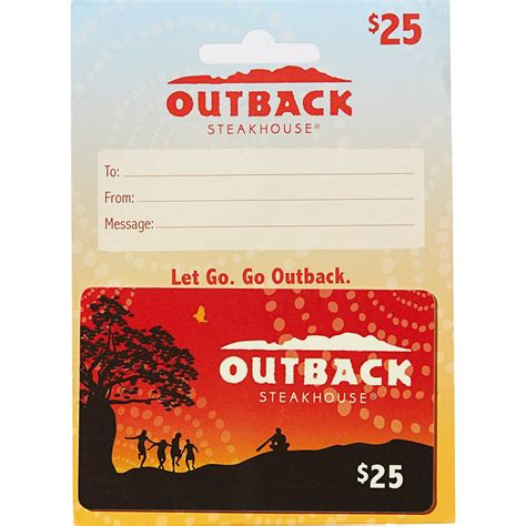 Outback Gift Card Deal - outback steakhouse gift card entertainment dining gifts food shop the exchange