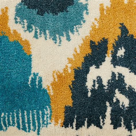 summer school rug summer ikat special order wool rug 30 day delivery west elm