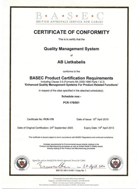 certificate conformity template best free home