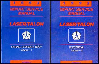 service repair manual free download 1993 eagle talon on board diagnostic system 1993 plymouth laser and eagle talon repair shop manual original 2 volume set