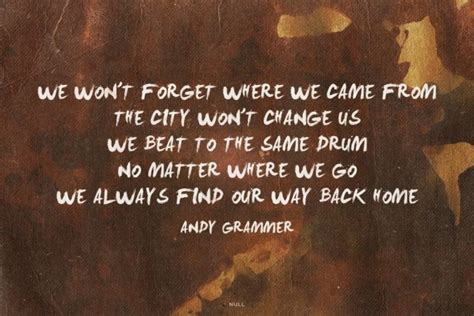 wont forget      city wont change   beat    drum