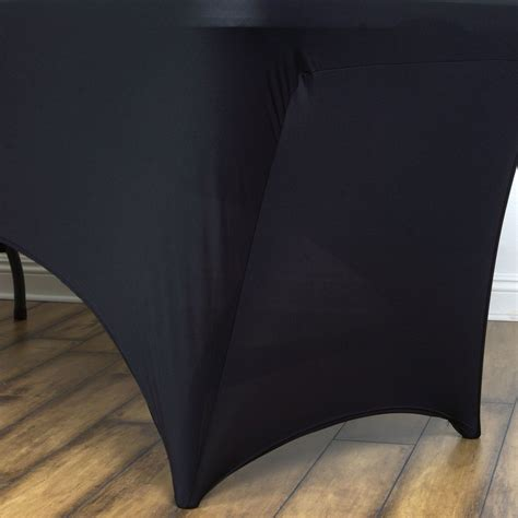 4 ft rectangular spandex table cover 4 ft rectangular spandex table cover black efavormart