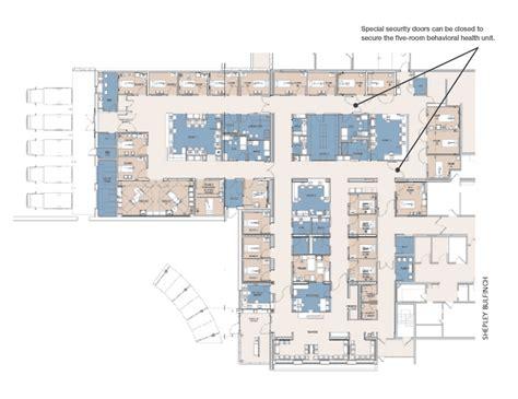 emergency room floor plan shepley bulfinch develops elegant design solution to
