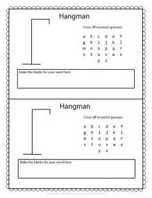 Hangman template printable on hangman printable worksheets