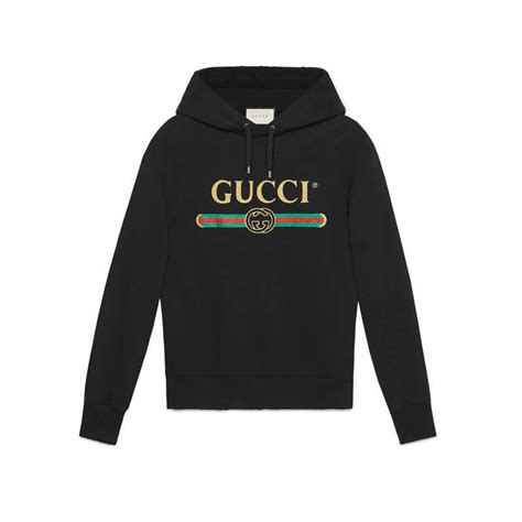 Sweater Hoodie What Is The Plan Front Logo Gucci Embroidered Cotton Sweatshirt With Logo For Lyst