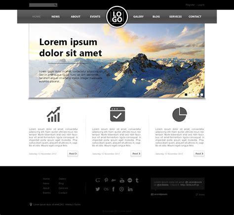 website templates for videos and photos well designed psd website templates for free download