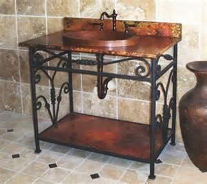 wrought iron bathroom vanity choosing unique bathroom vanities to make your bathroom shine