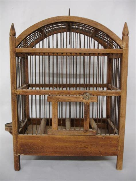 Handmade Bird Cages - antique handmade wood bird cage