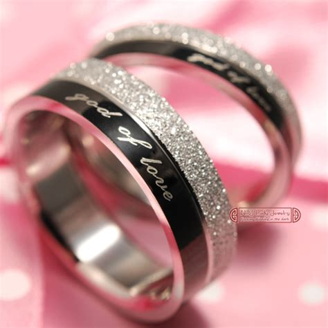 1 quot god of quot engagement lover couples rings