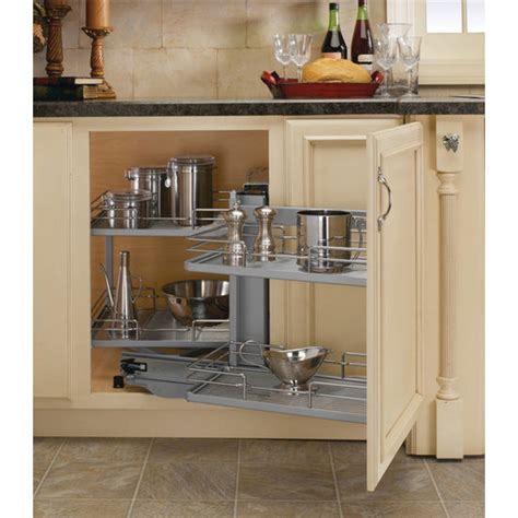 kitchen cabinet shelf premiere blind corner kitchen cabinet system by rev a shelf kitchensource