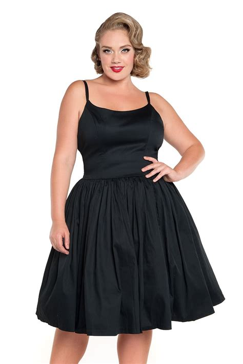 Dress Janny pinup couture dress in black sateen pinup clothing