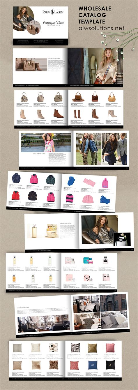 Product Catalog Template For Hat Catalog Shoe Catalog Template Hand Bag Template Accessory Catalog Template Photoshop