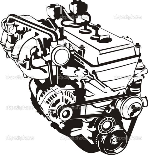 vector motor layout 17 super car engine vector images vector w2 vector