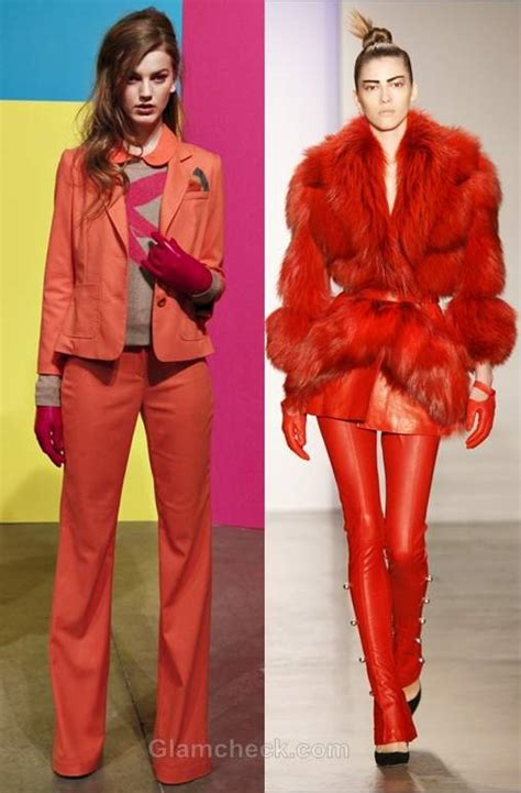 fall 2012 color trends fashionising color trends fall winter 2012 tangerine tango