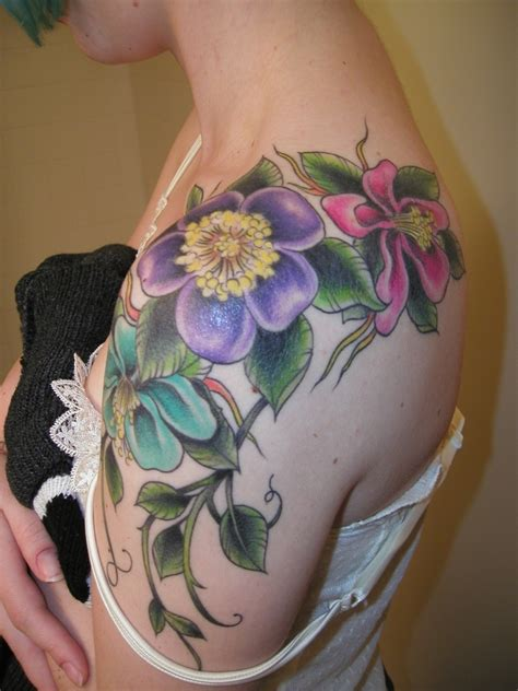 flower shoulder tattoos tattoos on tree tattoos cherry blossom