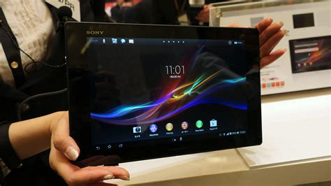 Tablet Xperia Z Indonesia xperia tablet z 速攻フォトレビュー 世界最薄6 9mm 国内最軽量495g 防水 nfc gps gigazine