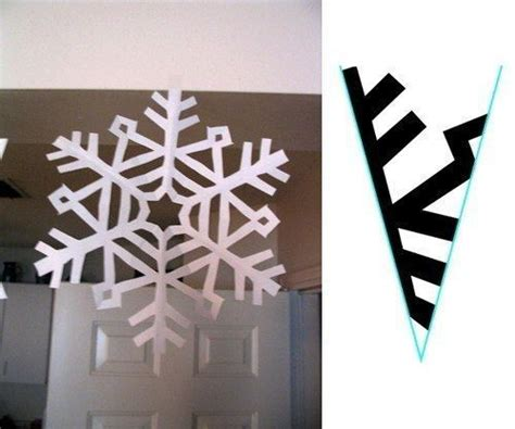 Paper Snowflakes - paper snowflake cutting pattern snowflakes paper