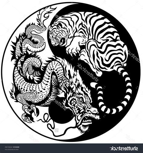 dragon tiger yin yang yin yang symbol dragon tiger fight