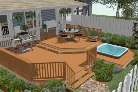 home hardware deck design software above ground pool deck plans how to create a deck around a hot tub chief architect software