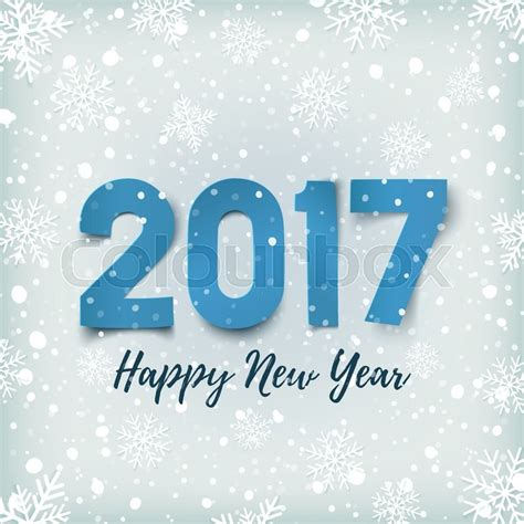 happy new year 2017 card template happy new year 2017 blue happy new year 2017 paper