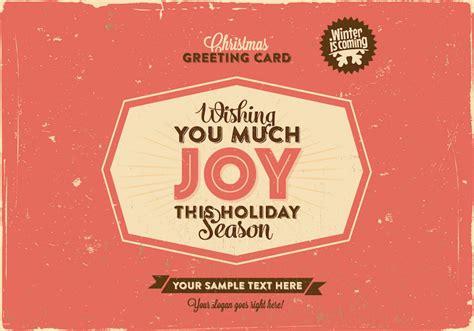 Greeting Card Vector Free