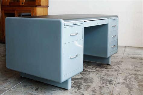 Refurbished Computer Desk Tanker Desk By Steel Age Refurbished At 1stdibs