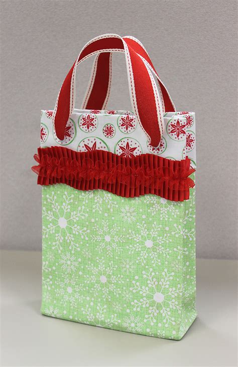 pattern to make gift bags bag it no sew fabric gift bags notions the connecting
