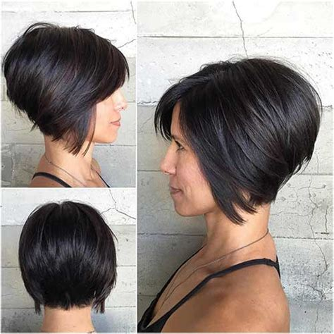 inverted bob on natual black hair short bob hairstyle bangs best hair style