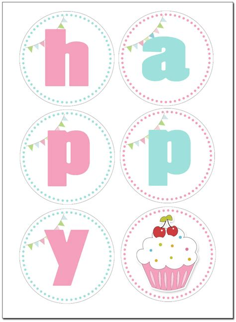 Cupcake Banner Template cupcake themed birthday with free printables how to nest for less