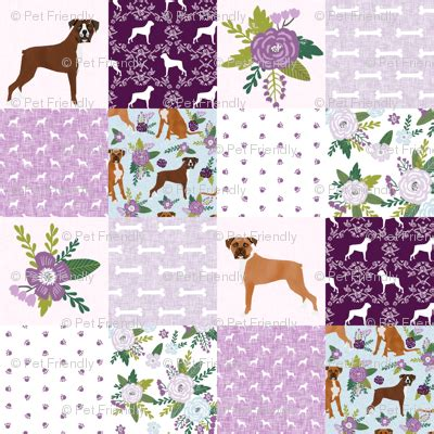 Boxer Quilt Pattern - boxer pet quilt c breed nursery cheater quilt