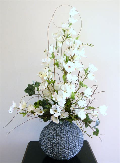 floral arrangement silk flower arrangement home decor