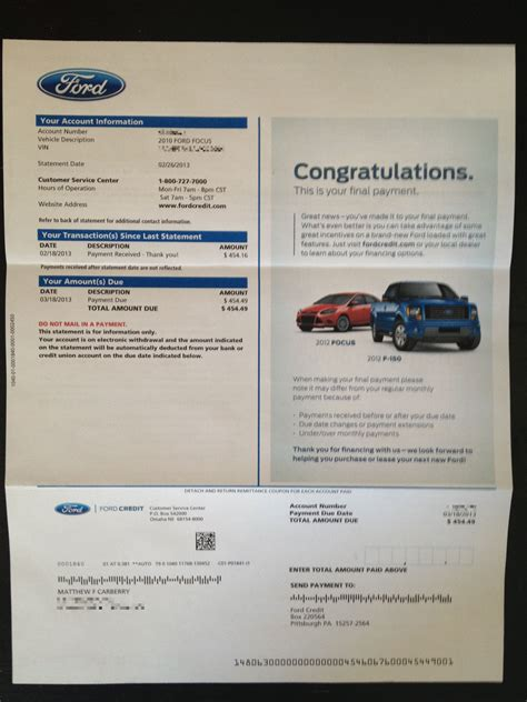 Ford Motor Credit Letter S Sandberg Quot Lean In Quot M Carberry Quot Lien Quot Kingpin248