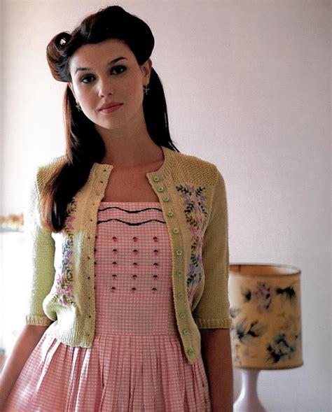 knitting pattern vintage hedy tyrolean pattern cardigan pattern by madeline weston