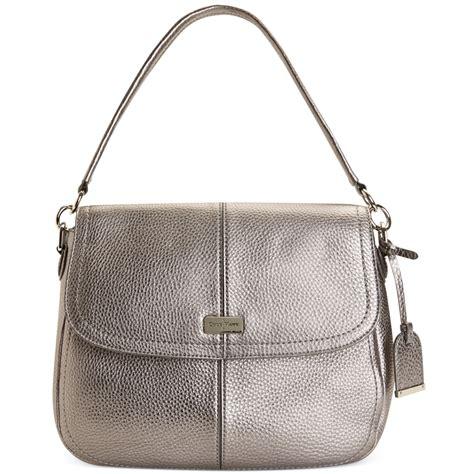 Jena Bag cole haan shoulder bag in silver armor lyst