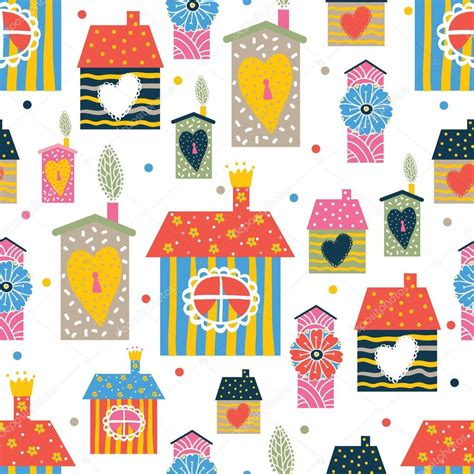 seamless pattern houses seamless pattern with houses stock vector 169 vyazovskaya