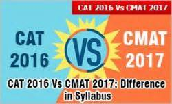 Cmat For Mba 2016 by Cat 2016 Vs Cmat 2017 Difference In Syllabus