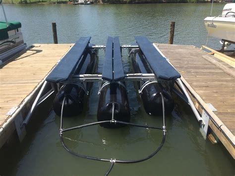 bennington tritoon boat lift refurbished lifts hydrohoist of the carolinas