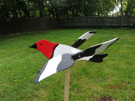 Roadrunner A Source Book handmade wooden headed woodpecker shaped whirligigs