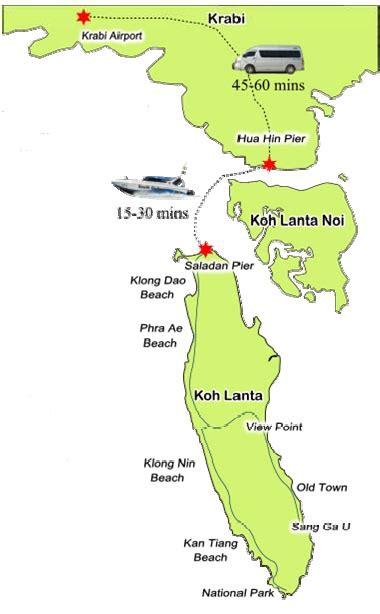 speed boat krabi to koh lanta krabi airport to koh lanta speedboat private transfer
