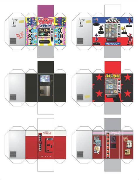 Papercraft Machines - heroclix vending machine papercraft heroclix 3d maps