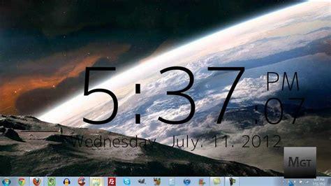 Jam Digital Dekstop how to get a clock on your desktop in windows